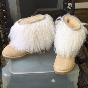 UGG Sheepskin Furry Boots 7